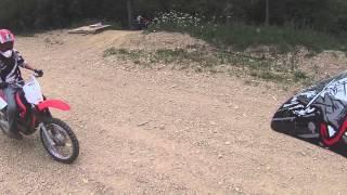 yfz450 thrashing trails outside of Xenia ohio 081014