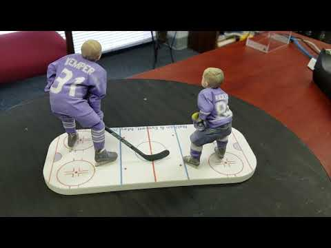 3D Scan and 3D print of Nathan and Everett in their hockey gear