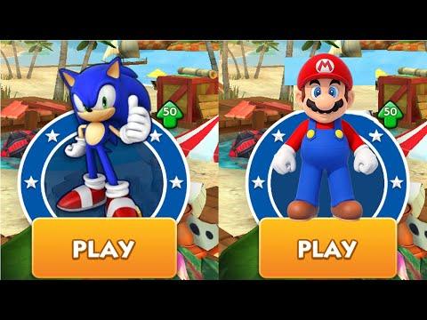 SONIC Dash Vs MARIO Runner Android Gameplay