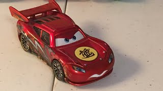 Disney Cars metallic dragon Lightning McQueen with oil stains diecast review