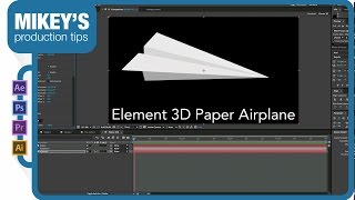 Element 3D paper airplane from scratch
