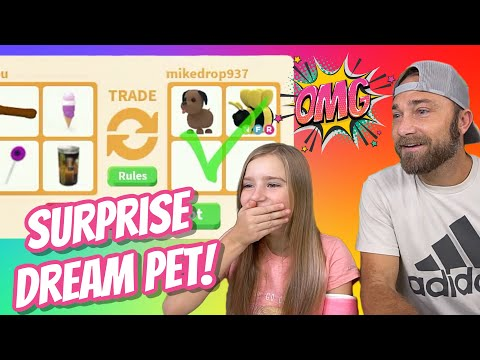 Surprise reveal! trading only to get cammy her dream neon pet!! roblox adopt me  *part 2 new mp3