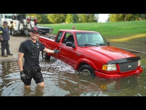 Found Sunken Truck Underwater in the River at Boat Ramp! (Re