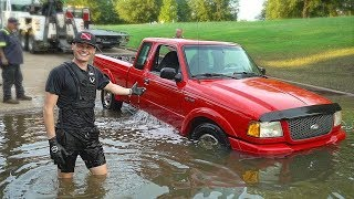 Found Sunken Truck Underwater in the River at Boat Ramp! (Recovered Truck for Owner)