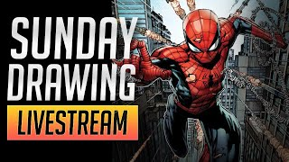 Sunday Drawing Livestream {Spiderman vs Venom}