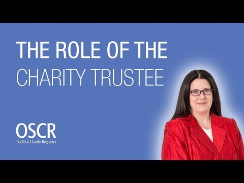 The role of the charity trustee