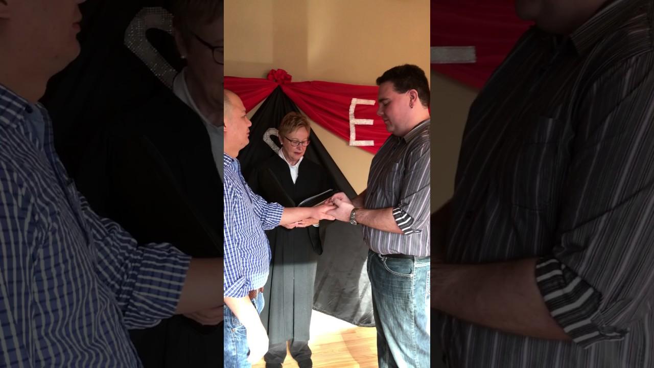 Gay Wedding in Alberta, Canada
