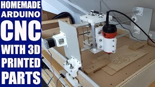 Homemade CNC with 3D Printed Parts