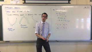 Exploring Stationary Points (2 of 3: Introductory Examples regarding nature of Stationary Points)