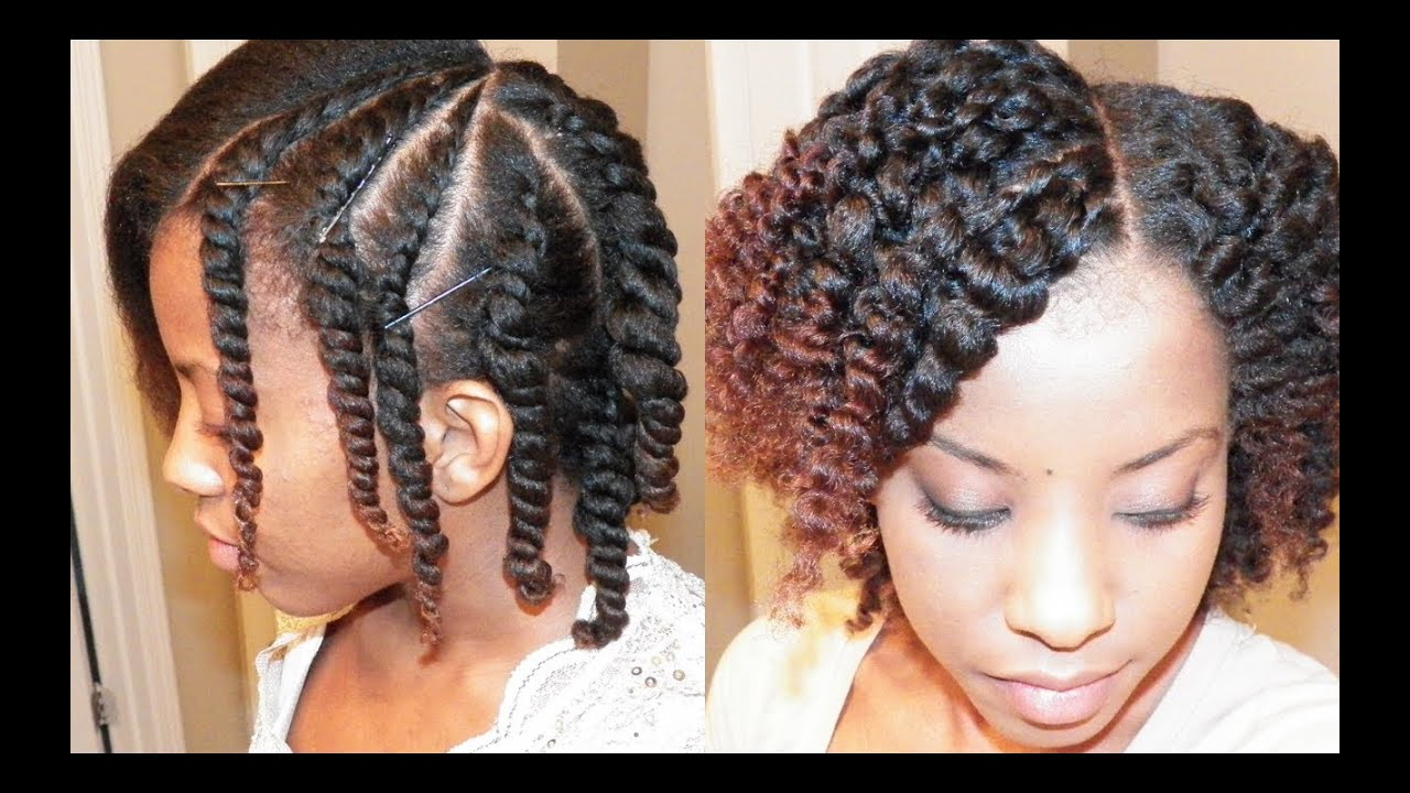 Flat Twist Out On Blown Out Natural Hair Youtube