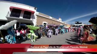 Espectacular Presentación del Carnaval de Papalotla (Tlaxcala, México) en GoPro