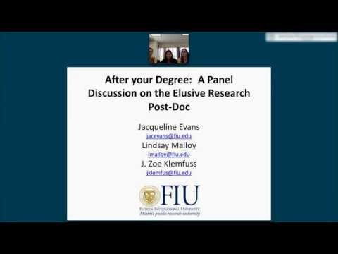 After your Degree: A Panel Discussion on the Elusive Research Post-Doc