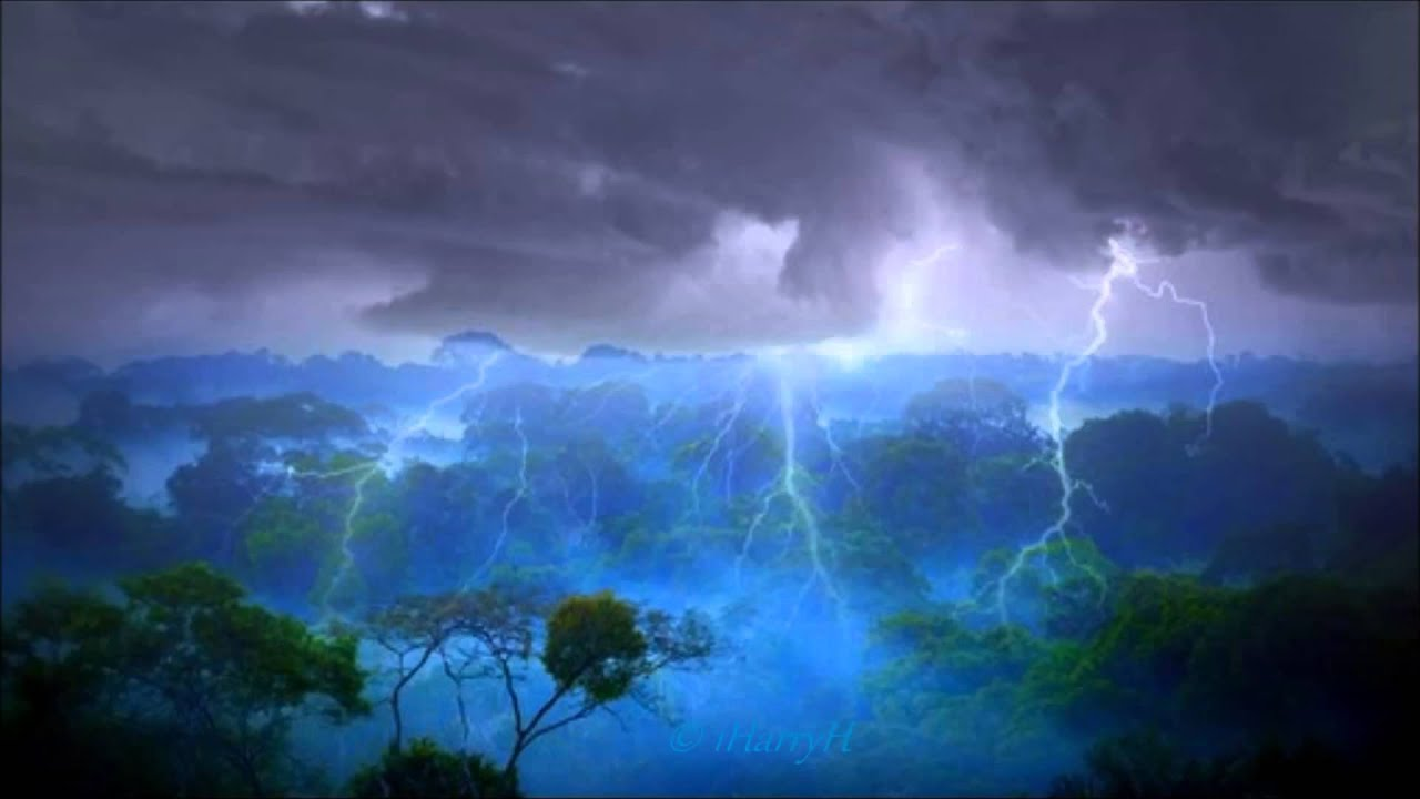 8 hours thunderstorm in amazon rainforest relax sleep youtube