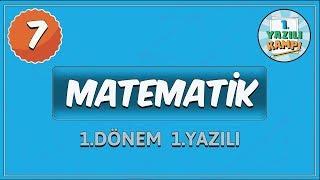 7. Sınıf Matematik   1. Dönem 1.Yazılıya Hazırlık MP3