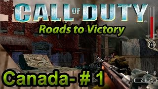 Call of Duty: Roads to Victory (PSP) - CANADA MISSION 1 (Walkthrough, no commentary) 1080p 60FPS