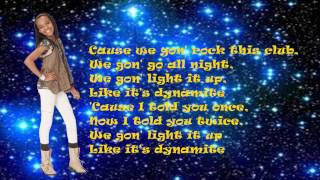China Anne McClain- Dynamite- Lyrics.