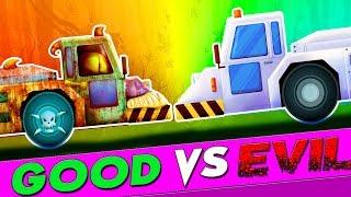 Good Vs Evil | Aircraft Tow Truck Videos For Children