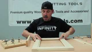 Infinity Cutting Tools Removable Bead Glass Door Router Bit Set