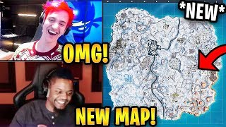 Streamers React to *NEW* FULL SNOW Map! (Christmas Event)   Fortnite Highlights & Funny Moments