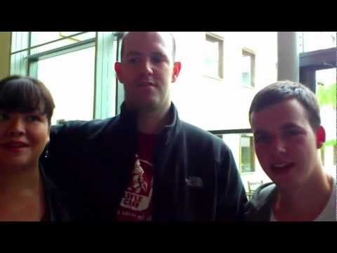 Liam Fraser meets Eben and Liz Upton at Cambridge Raspberry Jam