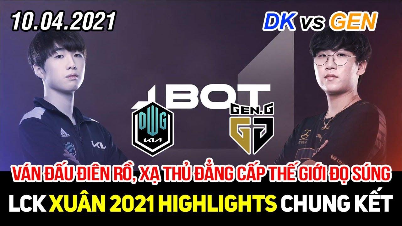 [LCK 2021] DK vs GEN Game 2 Highlights | Lật kèo điên rồ, 2 xạ thủ đẳng cấp thế giới thay nhau gánh