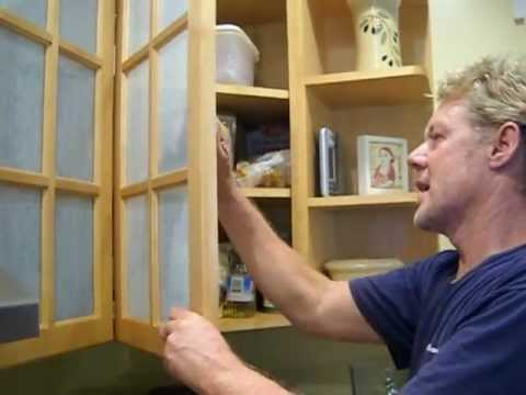 Decorative Glass Films For Kitchen Cabinets Youtube