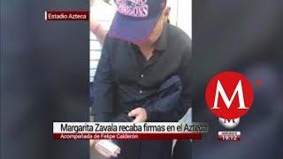 Margarita Zavala aprovecha partido de la NFL para recabar firmas