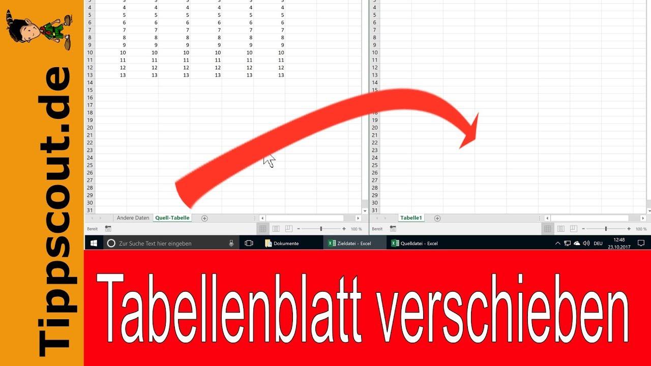 Excel Tabellenblatt in andere Datei verschieben - YouTube
