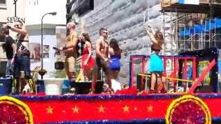 Америка.Фрагмент Гей-парада.PRIDE FESTIVAL