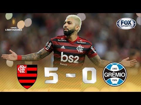 FLAMENGO IMPIEDOSO NO MARACA! Veja os melhores momentos de Flamengo 5 x 0 Grêmio pela Libertadores