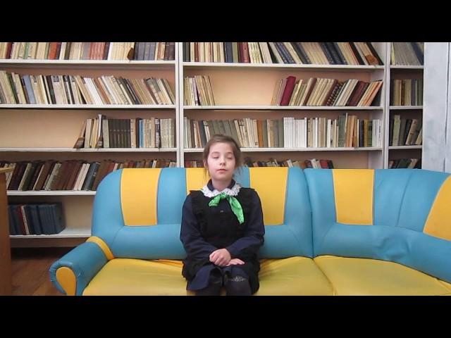 Изображение предпросмотра прочтения – ВарвараМелехова читает произведение «Есть в осени первоначальной...» Ф.И.Тютчева