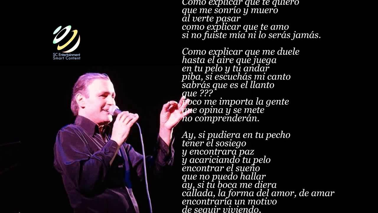 Leonardo Favio Quiero Aprender De Memoria Lyric Video Hq Youtube