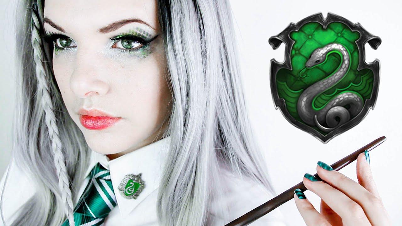 Hogwarts House Slytherin Makeup Tutorial Youtube