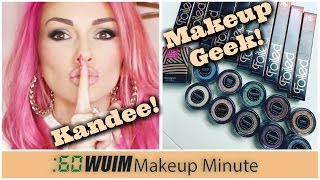 Makeup Minute | KANDEE JOHNSON HAS A SECRET! + FOIL LIPS AND SHADOWS COMING SOON FROM MAKEUP GEEK!