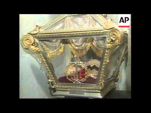 MEXICO: BURIAL VAULTS OPENED UNDER INDEPENDENCE MONUMENT