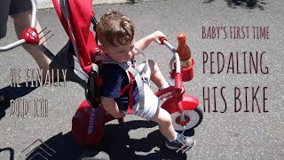 TODDLER LEARNS TO PEDAL!