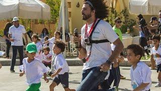 أطفال مصريون يشاركون في ماراثون كيداثون الخيري بالقاهرة