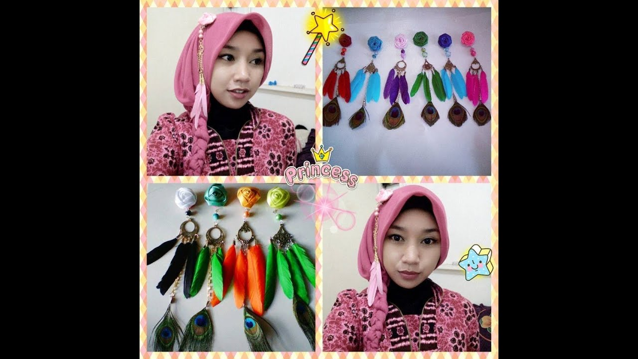 Part III Tutorial Jilbab Paris Kepang Anting Hijab YouTube