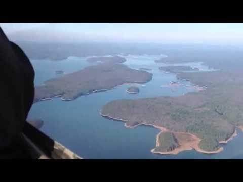 Flying over the Quabbin Reservoir.