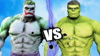 THE HULK VS HULK-JOKER EPIC BATTLE