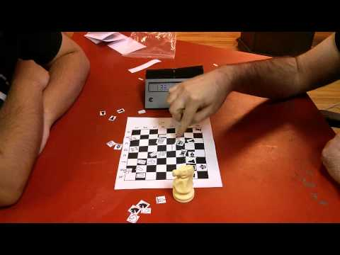 3 minute blitz with the paper marketing chess set.