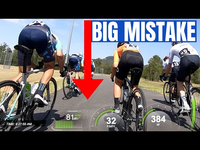 The Mistake that Cost Me the Criterium Race