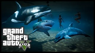 GTA 5 - PLAY AS KILLER WHALE, SHARK, DOLPHIN & MORE! Peyote Locations Episode 4 (GTA 5 Xbox One PS4)