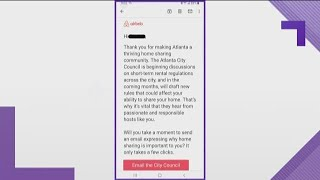 Gambar cover Airbnb sends email asking Atlanta hosts to reach out to city council about short-term rentals