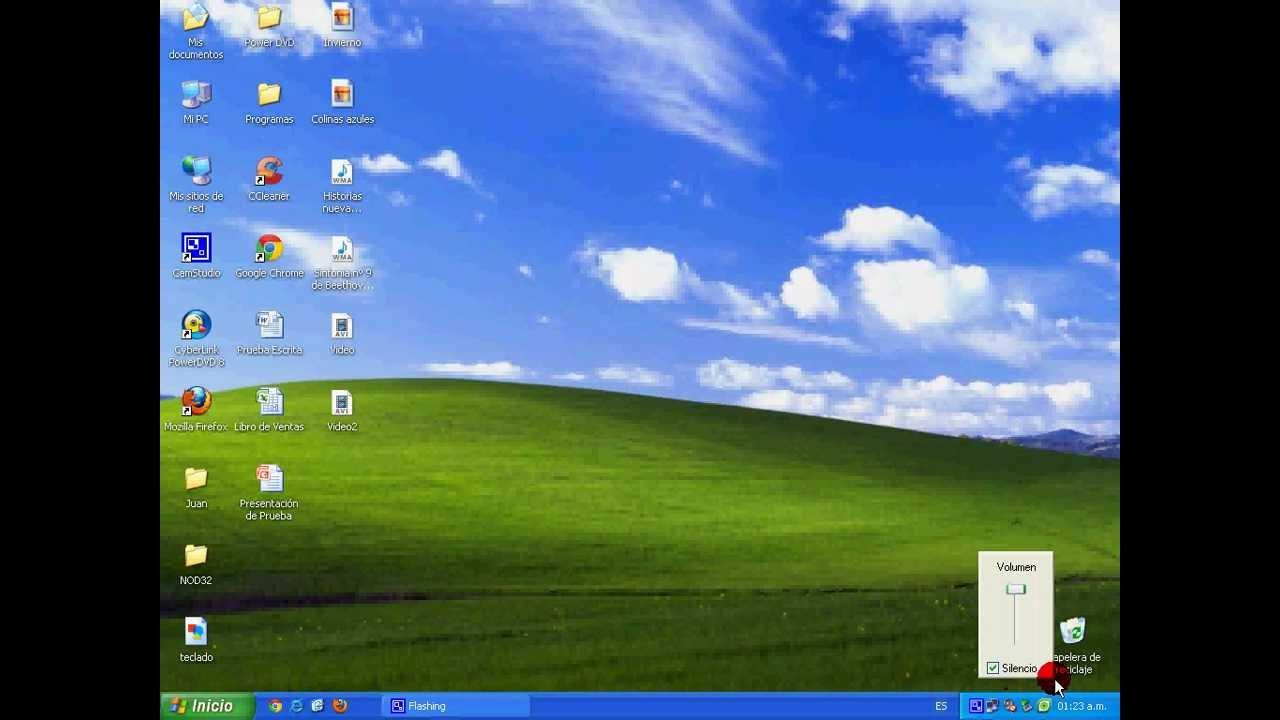 Windows 01 El Escritorio De Windows Xp Youtube