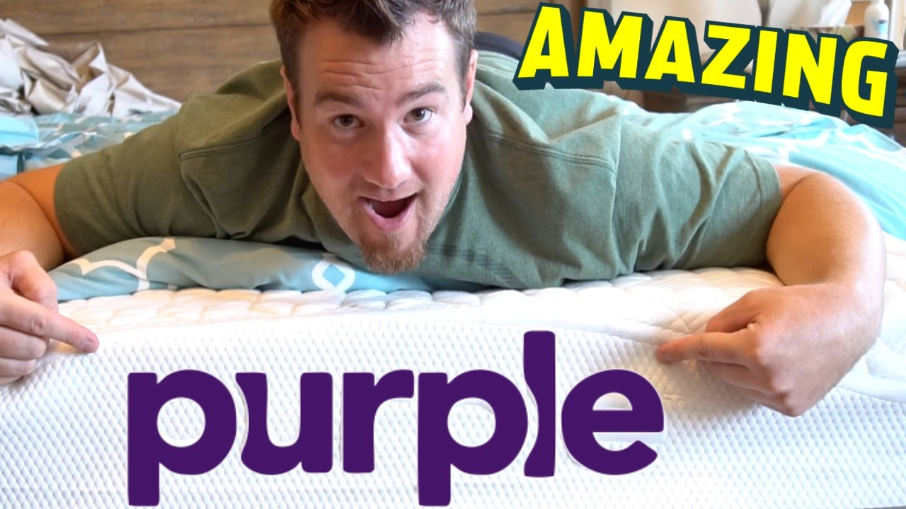 purple mattress best bed review unboxing don 39 t try this at home the raw egg test youtube. Black Bedroom Furniture Sets. Home Design Ideas