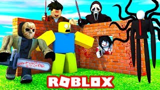 BUILD TO SURVIVE SCARY MURDERERS IN ROBLOX!
