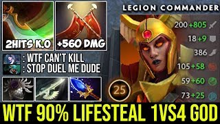 Most Satisfying LC You've Ever Seen   WTF 90% Lifesteal 1Vs4 Can't Kill Her Vs 8000 MMR Drow Ranger