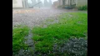 Opady gradu na lubelszczyżnie 21 06 2012 godz 14