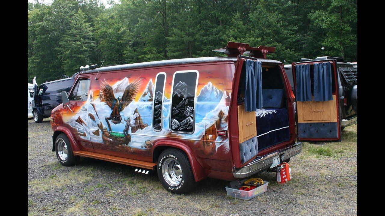 Eagles Lair Muralled Chevy Custom Van